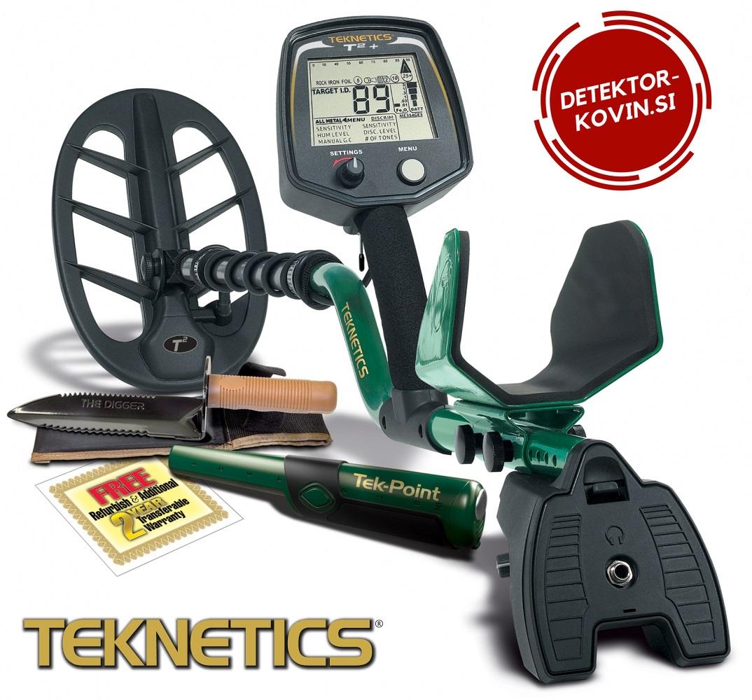 Detektor kovin Teknetics T2+  649€  gratis pinpointer in digger